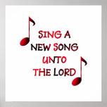 Cante uma canção nova até o senhor posteres
