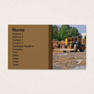 canteiro de obras cartão de visitas