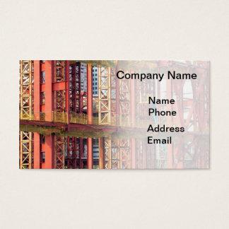Canteiro de obras da grande escala cartão de visitas