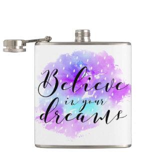 Cantil A aguarela acredita em suas citações dos sonhos
