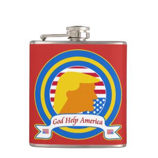 Cantil A ajuda América do deus resiste o anti trunfo