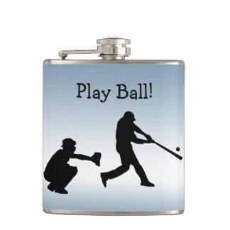 Cantil A bola azul do jogo de basebol ostenta a garrafa