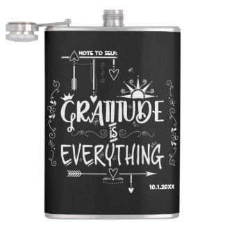 Cantil A gratitude do quadro é tudo nota ao auto