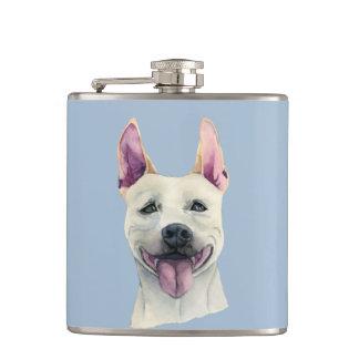 Cantil Aguarela branca do cão de Staffordshire bull