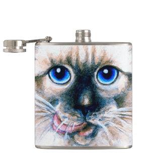 Cantil Aguarela do gato Siamese