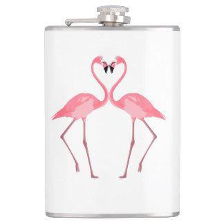 Cantil Amor cor-de-rosa bonito dos flamingos