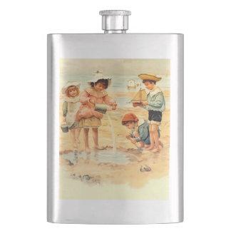 Cantil Areia do Victorian do vintage das crianças da