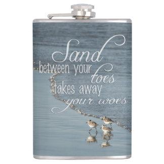 Cantil Areia entre suas citações da praia dos dedos do pé