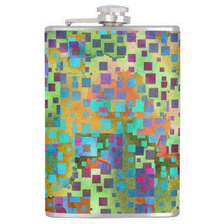 Cantil Arte abstrata colorida de Digitas com quadrados