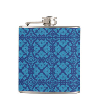 Cantil Azul floral geométrico do vintage no azul