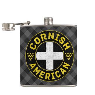 Cantil Bandeira americana Cornish Hipflask