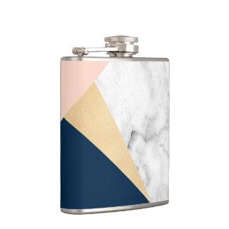 Cantil bloco azul da cor do pêssego de mármore branco