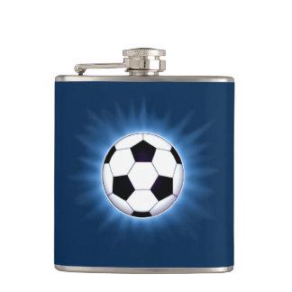 Cantil Bola de futebol garrafa envolvida vinil de 6 onças