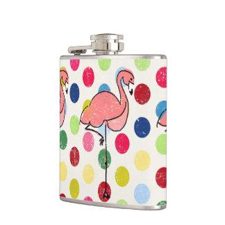 Cantil Bolinhas coloridas dos flamingos Funky bonitos