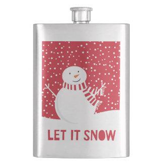 Cantil boneco de neve vermelho e branco contemporâneo