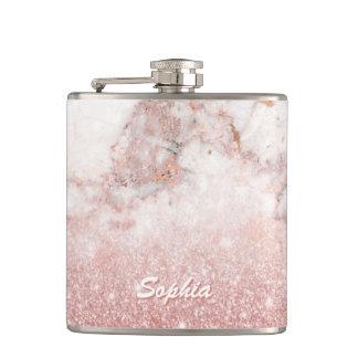 Cantil Brilho cor-de-rosa Ombre de mármore branco do ouro