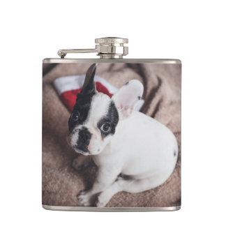 Cantil Cão de Papai Noel - pug engraçado - persiga claus