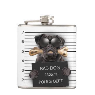 Cantil Cão do Mugshot, pug engraçado, pug