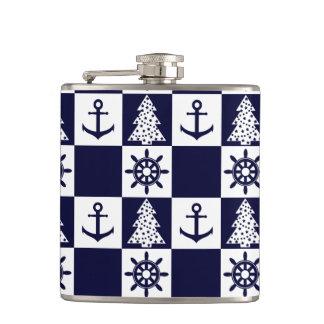Cantil Checkered branco azul náutico