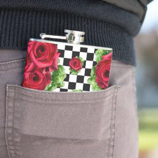 Cantil Checkered Rockabilly do amor floral do buquê das