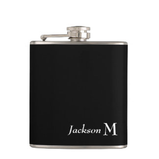 CANTIL CHIQUE FLASK_WHITE NAME/MONOGRAM NO PRETO