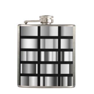 Cantil Colagem metálica de prata preta