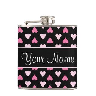 Cantil Corações cor-de-rosa pretos do amor