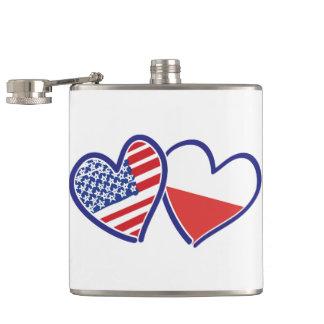 Cantil Corações da bandeira do Polônia dos EUA