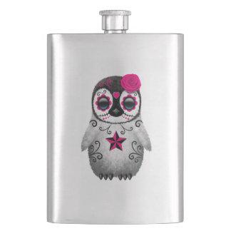 Cantil De Bebida Dia cor-de-rosa do pinguim inoperante do bebê