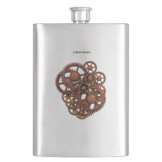 Cantil De Bebida Engrenagens oxidadas do metal de Steampunk com