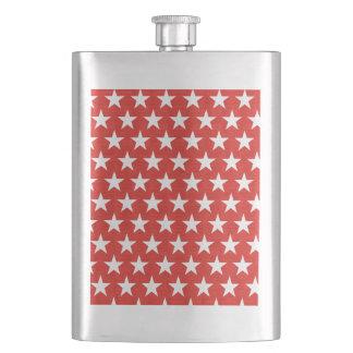 Cantil De Bebida Estrelas brancas no fundo vermelho