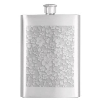 Cantil De Bebida Flores brancas pequenas
