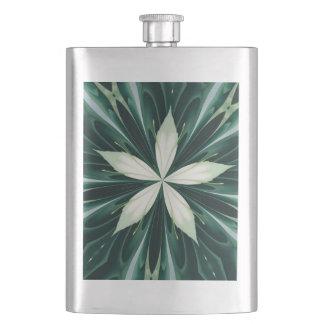Cantil De Bebida Folhas do branco em um caleidoscópio verde da