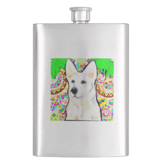 Cantil De Bebida German shepherd branco Bling