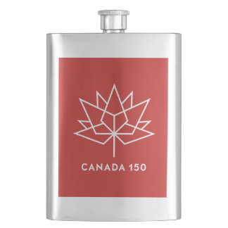Cantil De Bebida Logotipo do oficial de Canadá 150 - vermelho e