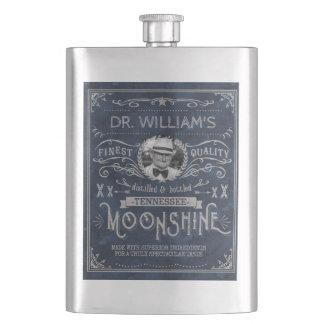 Cantil De Bebida Moonshine o azul feito sob encomenda do vintage da