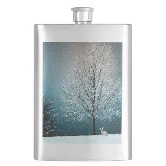 Cantil De Bebida País das maravilhas do inverno com coelho