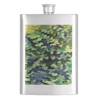 Cantil De Bebida Pop art abstrato da folha em verde e no azul