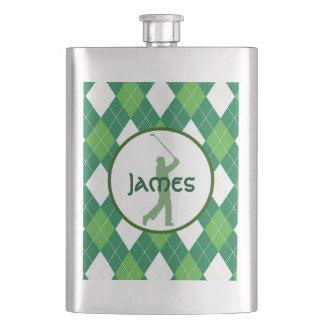 Cantil De Bebida Teste padrão e golfe verdes de Argyle