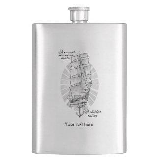 Cantil De Bebida Um mar liso nunca fez um marinheiro especializado