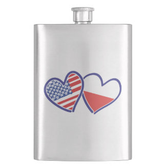 CANTIL DE BEBIDA USA-POLISH-FLAG-HEARTS