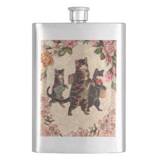 Cantil De Bebida Vintage bonito dos gatos do gatinho