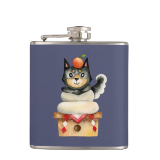 """Cantil De """"ilustração da aguarela do cão Mochi Shiba"""""""