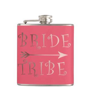 Cantil design cor-de-rosa do tribo da noiva da folha de
