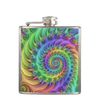 Cantil Design espiral colorido do impressão do teste