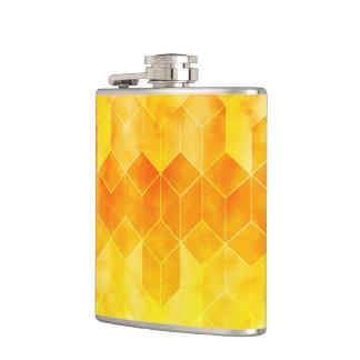 Cantil Design geométrico do cubo do Sunburst amarelo