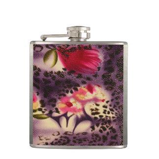Cantil Design roxo do impressão do leopardo das flores do