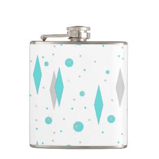 Cantil Diamante retro de turquesa & garrafa de Starburst