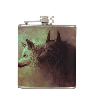 Cantil dois lobos - lobo da pintura