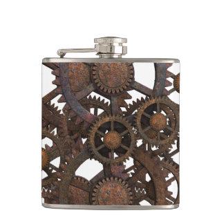 Cantil Engrenagens oxidadas do metal de Steampunk